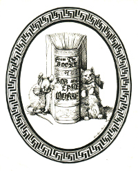 Bookplate of Bob and Epsie Morse, by Luis Agassiz Fuertes, c. 1910